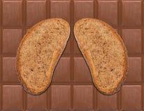Pão e chocolate II imagens de stock royalty free