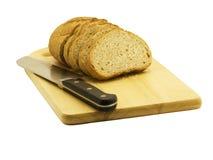 Pão e faca Imagem de Stock Royalty Free