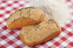 Pão e farinha tradicionais Foto de Stock