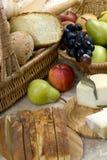 Pão e fruta Imagens de Stock