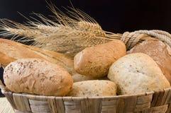 Pão e grão Fotografia de Stock Royalty Free