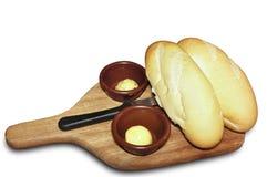 Pão e manteiga Foto de Stock Royalty Free