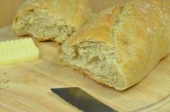 Pão e manteiga fotografia de stock