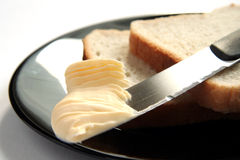 Pão e manteiga Imagem de Stock Royalty Free