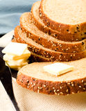 Pão e manteiga imagens de stock royalty free
