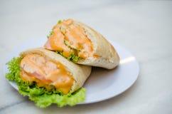 Pão e mostarda Imagem de Stock