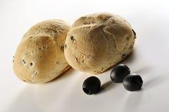 Pão e olives_4 Fotografia de Stock Royalty Free