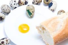 Pão e ovo Fotografia de Stock Royalty Free