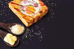 Pão e ovo Fotografia de Stock