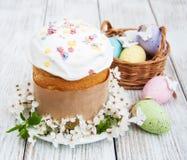 Pão e ovos de Easter foto de stock