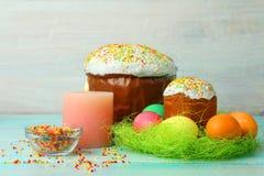 Pão e ovos de Easter Fotos de Stock Royalty Free