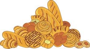 Pão e padaria ilustração royalty free