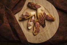 Pão e pasta Fotografia de Stock