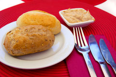 Pão e pasta Foto de Stock