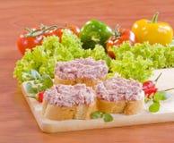 Pão e pasta francesa Fotos de Stock