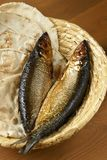 Pão e peixes Foto de Stock