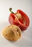 Pão e pepper_2 Imagem de Stock