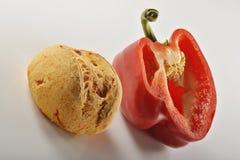 Pão e pepper_3 Fotografia de Stock Royalty Free
