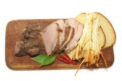 Pão e presunto e queijo Imagem de Stock Royalty Free