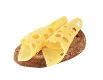 Pão e queijo suíço Imagens de Stock Royalty Free