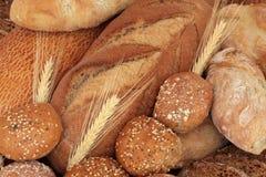 Pão e Rolls rústicos Fotos de Stock Royalty Free