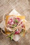 Pão e salami Imagem de Stock