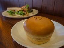 Pão e sanduíche macios Fotografia de Stock