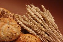 Pão e trigo Fotos de Stock