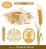 Pão e trigo. Foto de Stock