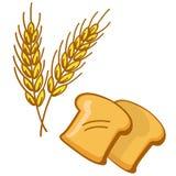 Pão e trigo ilustração stock