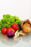 Pão e vegetais Fotografia de Stock Royalty Free