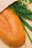 Pão e verdes Imagens de Stock Royalty Free