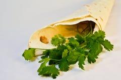 Pão e verdes do pão árabe Foto de Stock Royalty Free