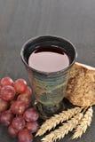 Pão e vinho Imagens de Stock