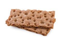 Pão estaladiço isolado no branco Imagem de Stock Royalty Free