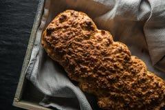 Pão feito a si próprio da erva fotografia de stock