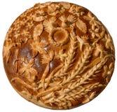 Pão festivo ucraniano isolado do feriado da padaria imagem de stock