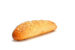 Pão francês isolado no branco Fotos de Stock Royalty Free