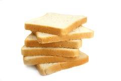 Pão fresco do corte no fundo branco fotos de stock royalty free