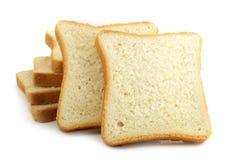 Pão fresco do corte no fundo branco imagens de stock royalty free