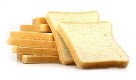 Pão fresco do corte no fundo branco imagem de stock royalty free