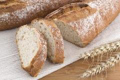 Pão fresco e trigo Imagem de Stock Royalty Free