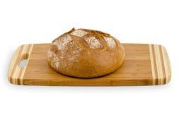 Pão fresco na placa Fotografia de Stock