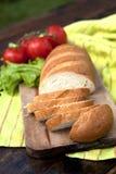 Pão fresco na tabela Fotos de Stock