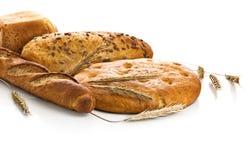 Pão fresco no isolado foto de stock