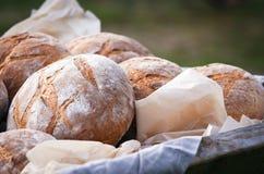 Pão fresco no pergaminho Fotografia de Stock