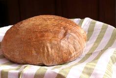 Pão fresco saboroso Quente e fresco dos bolos do forno Trigo inteiro bread Vista lateral Conceito do alimento, espaço para seu te fotografia de stock royalty free