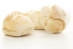Pão fresco sobre o branco fotografia de stock royalty free