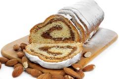 Pão geado da amêndoa fotografia de stock royalty free