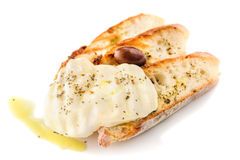 Pão grelhado com queijo Foto de Stock Royalty Free
